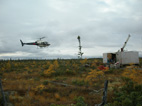 Helicopter landing at Big Daddy Site