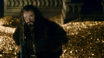 King Thorin, the Dwarf King, with a castle full of gold