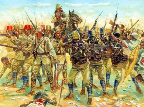 British Colonial troops at war in 19th C Sudan